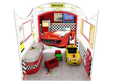 Cenografia Auto Center Mini Oficina Buffet Infantil com atividades (4)