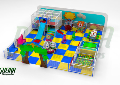 Mini Parque Nogueira Brinquedos Para Buffet Infantil - Shoppiings (2)