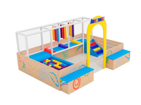 Eco Área Baby Nogueira Brinquedos - Modelo Médio