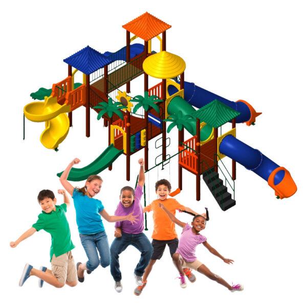 Playground Para Área Externa Nogueira Brinquedos Kid-Play